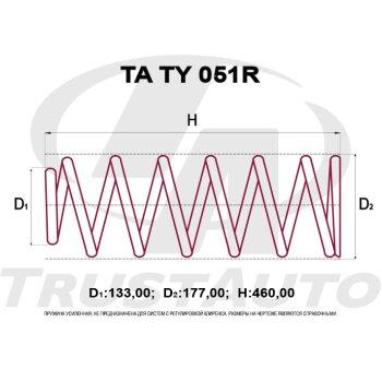 """Пружина """"TA"""" усиленная   LAND CRUISER NO HEIGHT CONTROL HDJ101/UZJ100 (98-)"""
