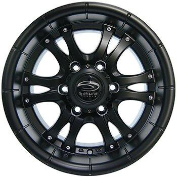Автодиск R15 Sakura Wheels R268 15*7J/6-139.7/110.5/-10 BLK/M7