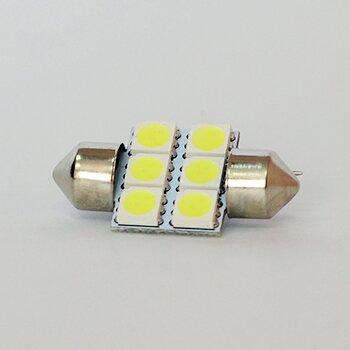 "Лампа светодиодная ""DSIGN"" T10x31, 6 светодиодов, белый XT11-0005W"
