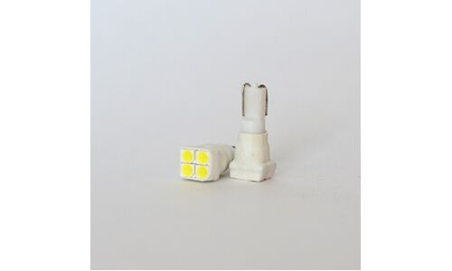 Лампы светодиодные Dsign T5, 12V, 0.55W, 6000K, 42lm, 4 светодиода, 2 шт