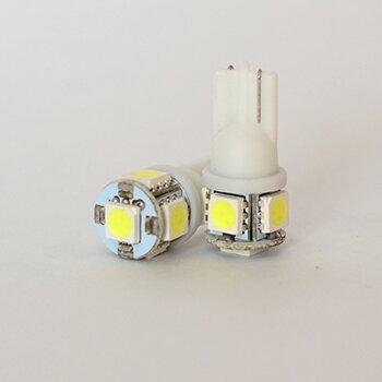 """Лампы светодиодные """"DSIGN"""" Т10, 5 светодиодов, белый, к-т 2 шт. XT10-0003"""