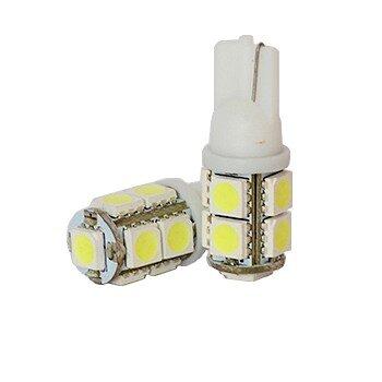 """Лампы светодиодные """"DSIGN"""" Т10, 9 светодиодов, белый, к-т 2 шт. XT10-0008"""