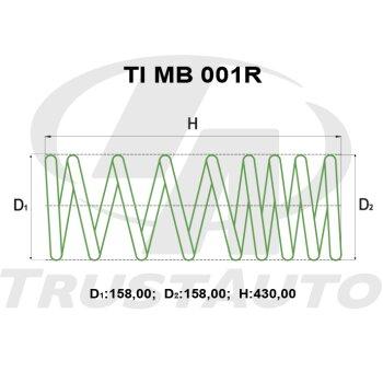 """Пружина для лифтинга + 2"""" (50мм) DELICA SPACE GEAR/CARGO PD4W (94-96), PD6W (97-06), PD/PE8W (94-04)"""