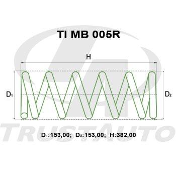 """Пружина для лифтинга + 2"""" (50мм) PAJERO V77W/65W/75W/68W/78W/63W/73W (99-) (REAR)"""