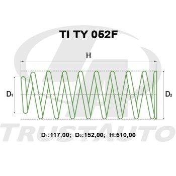 """Пружина для лифтинга + 2"""" (50мм) LAND CRUISER VAN FZJ80/HZJ81/HDJ81 (92-98)"""