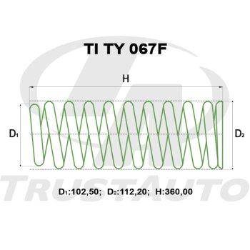 """Пружина для лифтинга + 2"""" (50мм) HILUX SURF VZN215W (02-)/KZN185,RZN185,VZN185(95-97)"""
