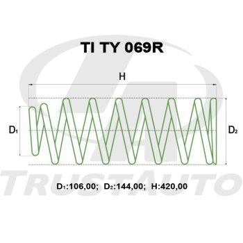"""Пружина для лифтинга + 2"""" (50мм) HILUX SURF KZN185,RZN185,VZN185(95-97)"""