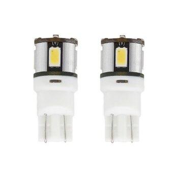 """Лампы светодиодные """"SOLARZEN"""" T10, 6 светодиодов, обманка, белый к-т 2 шт."""