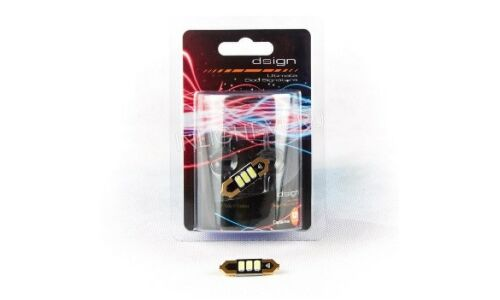 Лампа светодиодная Dsign T10x31, 12V, 0.6W, 6000K, 160lm, 3 светодиода, 1 шт