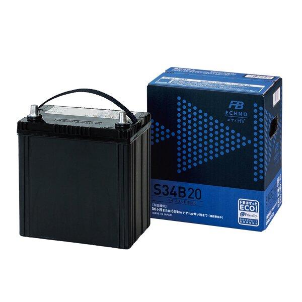 Аккумулятор FB ECHNO HV S34B20R 35Ач CCA 270А необслуживаемый технология AGM для гибридных автомобилей.