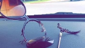 Солнечные очки нельзя оставлять в машине в жару